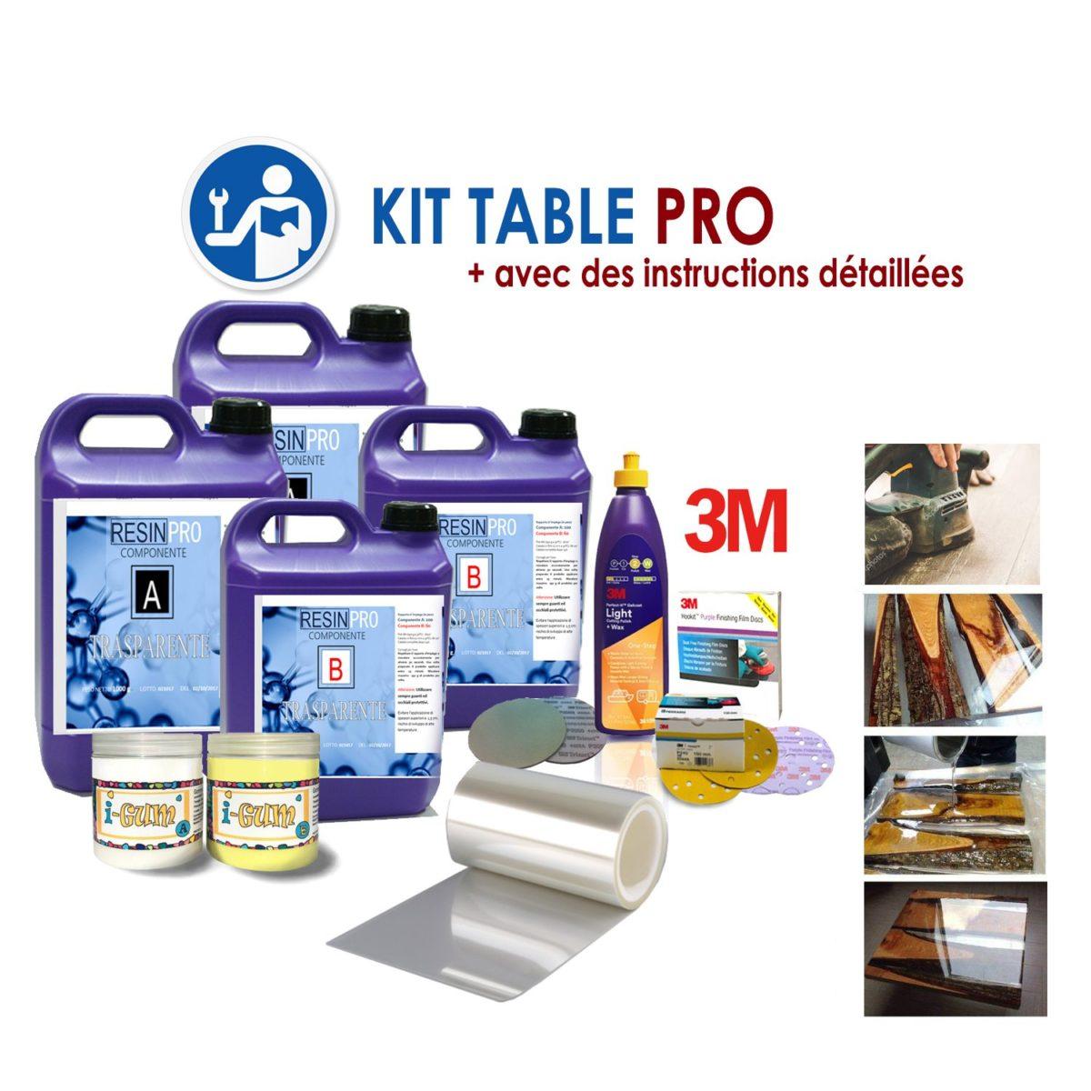 """KIT COMPLET POUR TABLES EN BOIS ET RESINE """"PRO"""""""