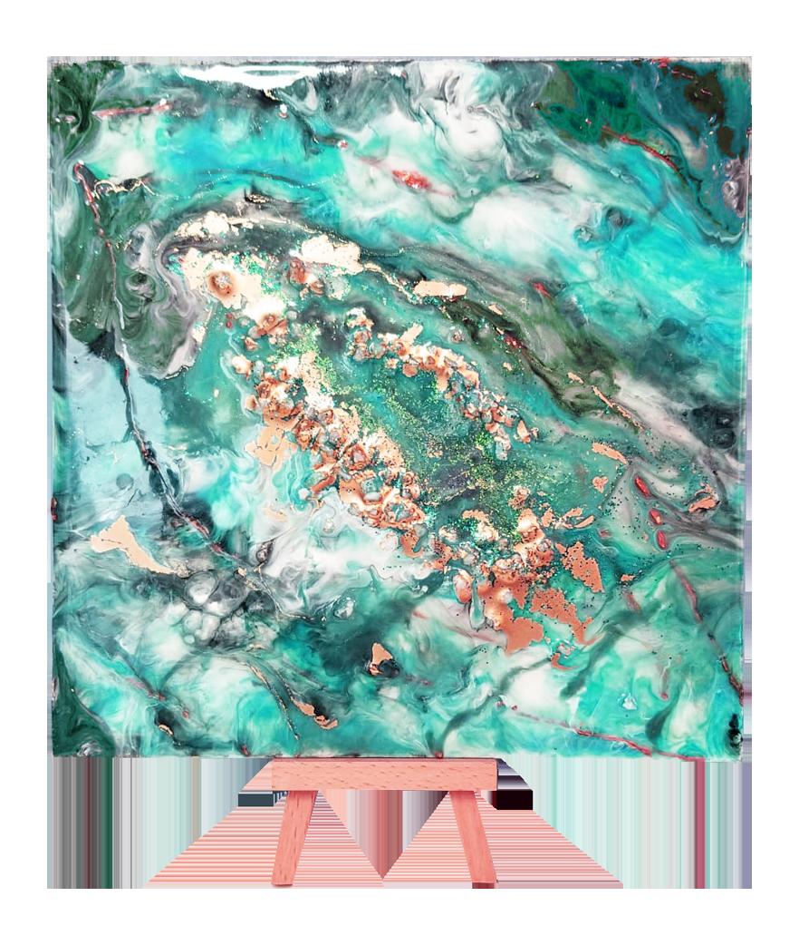 TOILE RECTANGULAIRE (30x30cm) - IDEAL POUR RESINE-ART ET POUR ART