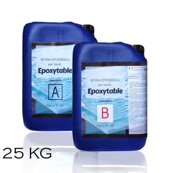 Résine époxy pour tables - jusqu'à 10 cm d'épaisseur! 25 KG