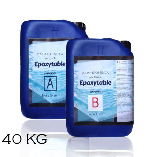 Résine époxy pour tables - jusqu'à 10 cm d'épaisseur! 40 KG