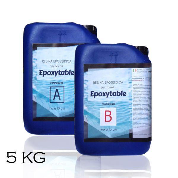 Résine époxy pour tables - jusqu'à 10 cm d'épaisseur! 5 KG
