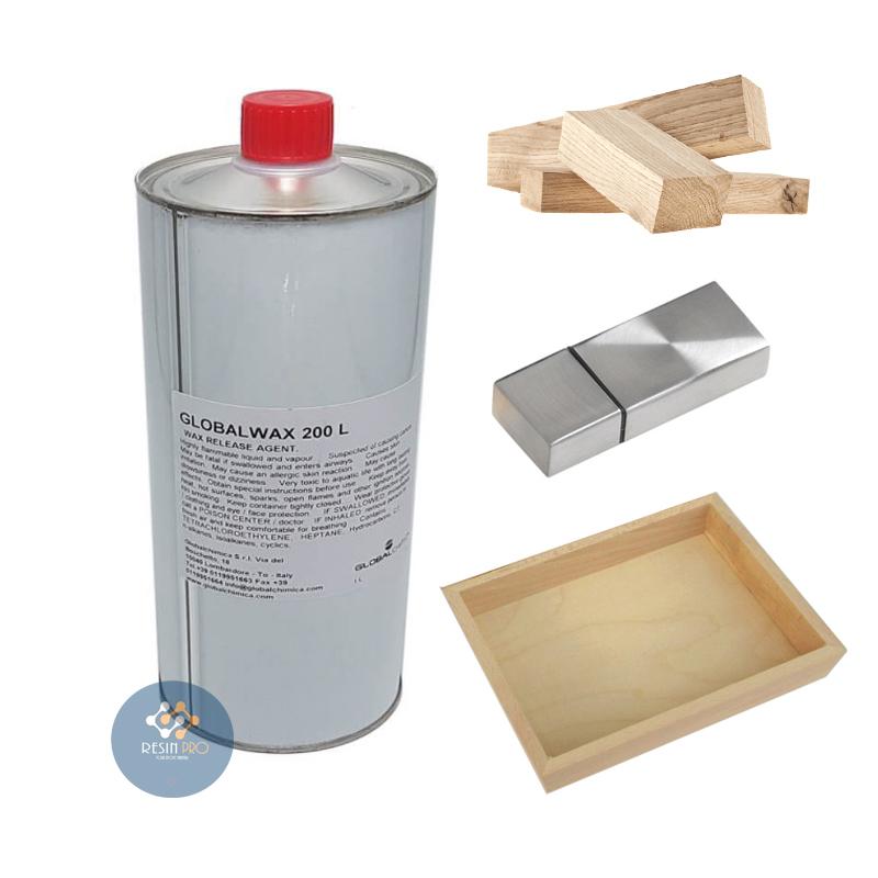 Cire de démoulage Global Wax (liquide) 200L pour résines époxydes, polyuréthanes et acryliques