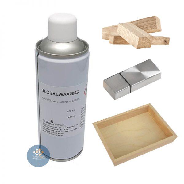 Cire de démoulage Global Wax (Spray) 200S pour résines époxydes, polyuréthanes et acryliques