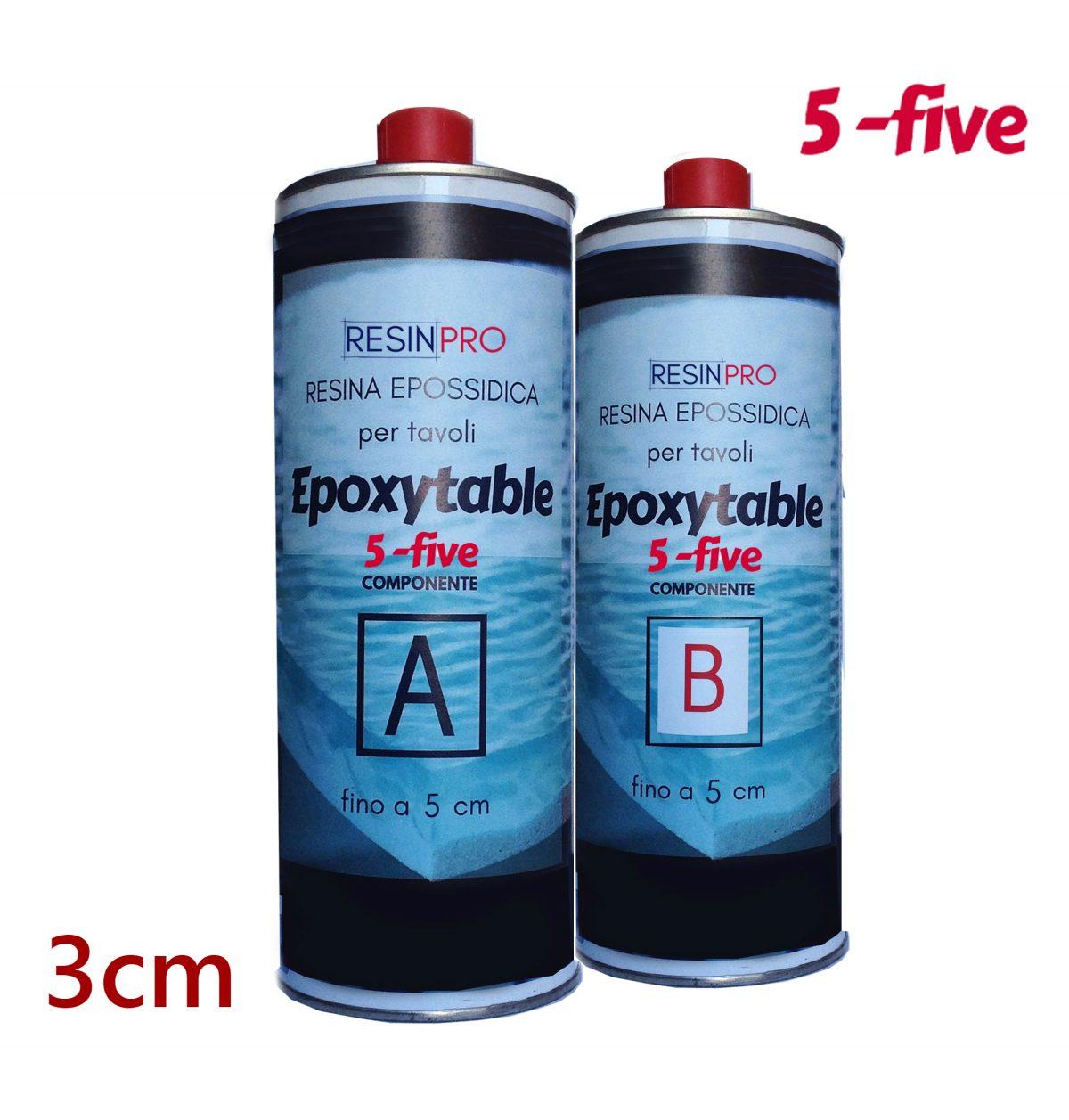 Résine époxy pour tables EPOXYTABLE 5-FIVE 1,35 KG