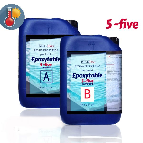 1.75 KG Résine époxy pour tables EPOXYTABLE 5-FIVE NOUVELLE FORMULE!