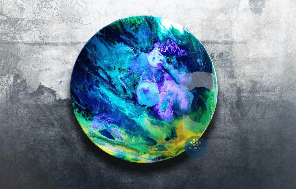 TOILE RONDE D.30cm - IDEAL POUR RESINE-ART ET POUR ART