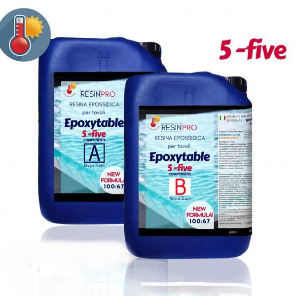 37 KG Résine époxy pour tables EPOXYTABLE 5-FIVE NOUVELLE FORMULE!